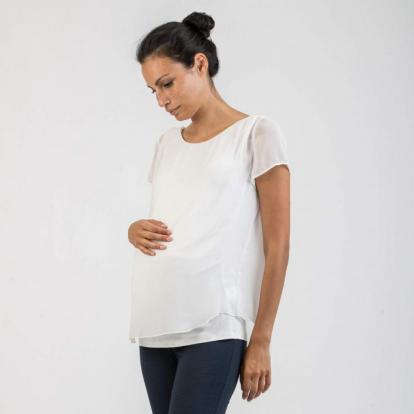 Attesa Shirt-Bluse, creme, rosa, blau, XS-XXL,           € 79,95