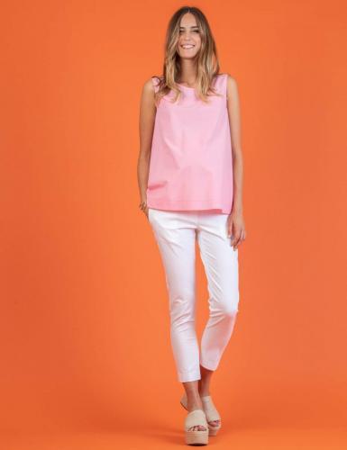 Attesa Bluse, weiß, rosa, hellblau, XS-XL,         € 69,95
