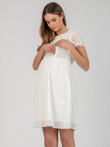 Attesa, Kleid mit Still-Funktion, cremeweiß und blau, XS-XXL,€ 129,95