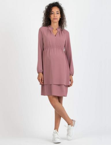 Attesa, Crêpe-Kleid mit Stillfunktion,XS-XXL, mauve + blau, rost, cremeweiß,€ 99,95