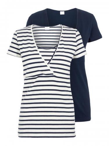 mamalicious 2er Pack Still-T-shirts 1 Streifen/ 1 uni XS-XL     € 34,95