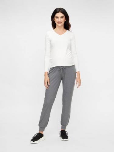 mamalicious, Jogginghose, Loungewear, gerippt, grau meliert, S-XL, € 29,95